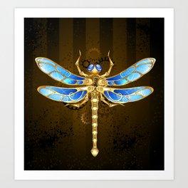 Mechanical Dragonfly ( Steampunk ) Art Print