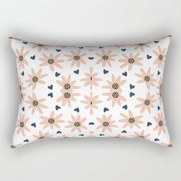 Lovely Modern Flowers Pattern Prints Rectangular Pillow