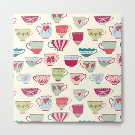 China Teacups Metal Print
