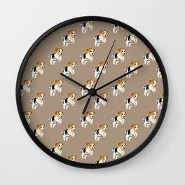 Beagle Pattern Wall Clock