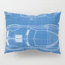 Classic Car Patent - American Car Art - Blueprint Pillow Sham