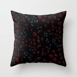 Skull Collection - Roses, Butterflies & Hummingbirds match Throw Pillow