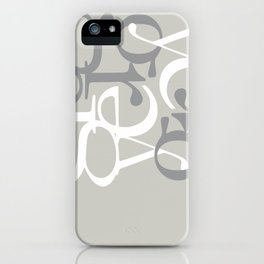 Grey II  #society6 #decor #buyart iPhone Case