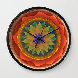 Playful starry mandala Wall Clock