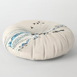 Beach Scenery Traditional Japanese Landscape Floor Pillow