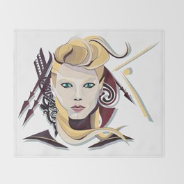 Queen Lagertha Throw Blanket