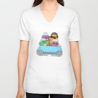 vampire weekend V-neck T-shirts featuring Holiday Vampire Weekend by Pily Clix