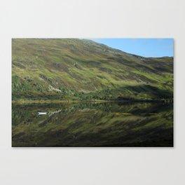 Scottish Highlands Lake Reflection Canvas Print