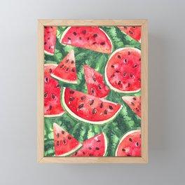 Watermelon Framed Mini Art Print