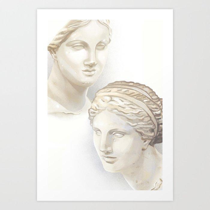 Dueling Aphrodites Art Print