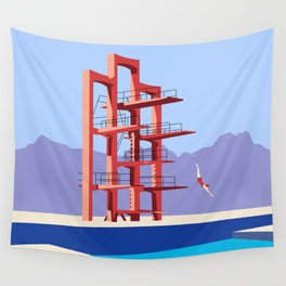 Soviet Modernism: Diving tower in Etchmiadzin, Armenia Wall Tapestry