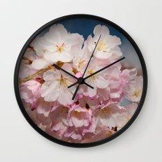 Springtime Cherry Blossoms Wall Clock