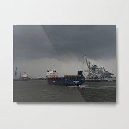 Hamburg Harbour 3 Metal Print