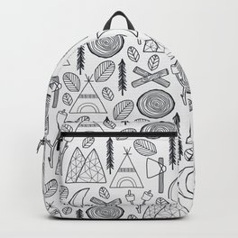 Camping Adventure in Black Backpack