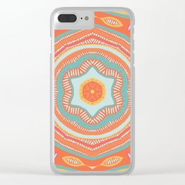 Summer Dance Mandala Clear iPhone Case