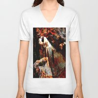 contemporary V-neck T-shirts featuring abstract contemporary by  Agostino Lo Coco