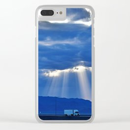 Driving on the Salt Flats Clear iPhone Case