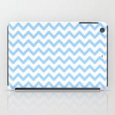 funky chevron blue pattern iPad Case