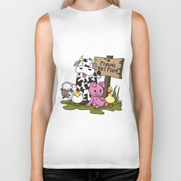 Friends Not Food Animal Rights Pig Cow present Biker Tank