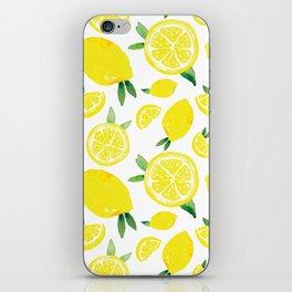 Zesty Lemon Pattern iPhone Skin
