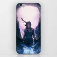 tomb raider iPhone & iPod Skins featuring Tomb Raider: Definitive Edition by Caleb Thomas