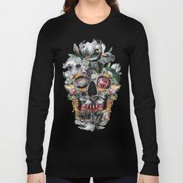 Skull on old grunge III Long Sleeve T-shirt