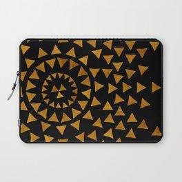 Dark Sun - Gold and Black Laptop Sleeve