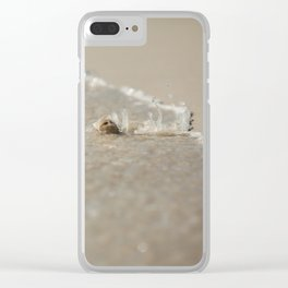 Seashell in the Waves Clear iPhone Case
