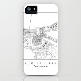 New Orleans Louisiana Street Map iPhone Case