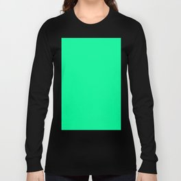 color medium spring green Long Sleeve T-shirt