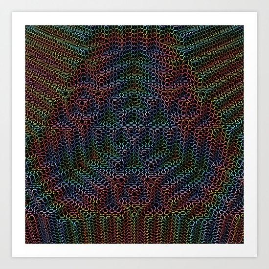 Psychedelic Pyramid Art Print