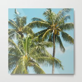 Coconut Palm Trees Sugar Beach Kihei Maui Hawaii Metal Print