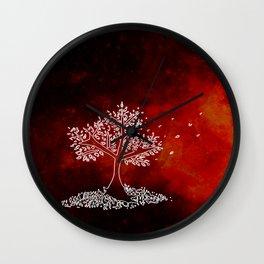 Wind On a Fiery Day Wall Clock