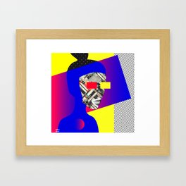Space Portrait Framed Art Print