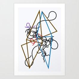 12,000pixel-500dpi - Sophie Taeuber-Arp - Octahedron-ss - Digital Remastered Edition Art Print