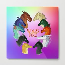 Wings of Fire - Dragonets Metal Print