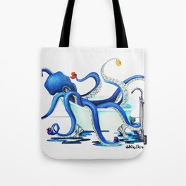 Bath Time Blue Tote Bag