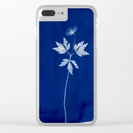 Wood Anemon - Cyanotype Clear iPhone Case