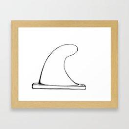 Single fin Framed Art Print
