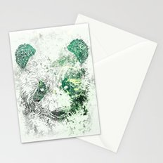Green Panda Bear Stationery Cards