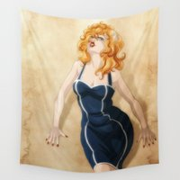 pin up Wall Tapestries featuring Pin Up by Viktor Macháček
