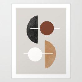 Moon and Sun Abstract Art Print