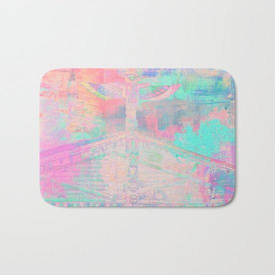 Totem Cabin Abstract - Pastel Bath Mat