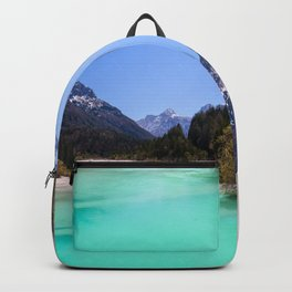 Stunning turquoise water in Kranjska Gora, Slovenia Backpack