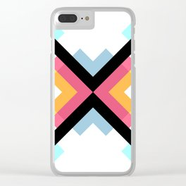 Abstract Retro Pattern 05 Clear iPhone Case