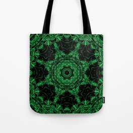 Green and Black Kaleidoscope 3 Tote Bag