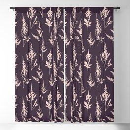 Astilbe Purple Blackout Curtain