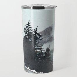 vancouver island // watercolor landscape canada snow mountain road roadtrip Travel Mug