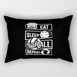 Eat Sleep Volleyball Repeat - Ball Sports Team Rectangular Pillow