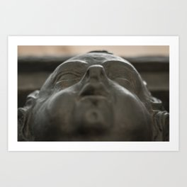 Baby Face: A Cherub Decorates St Dunstan in the East Art Print